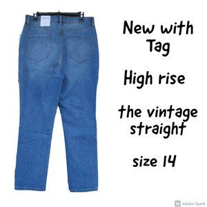 NWT Elizabeth and James high rise jean size 14